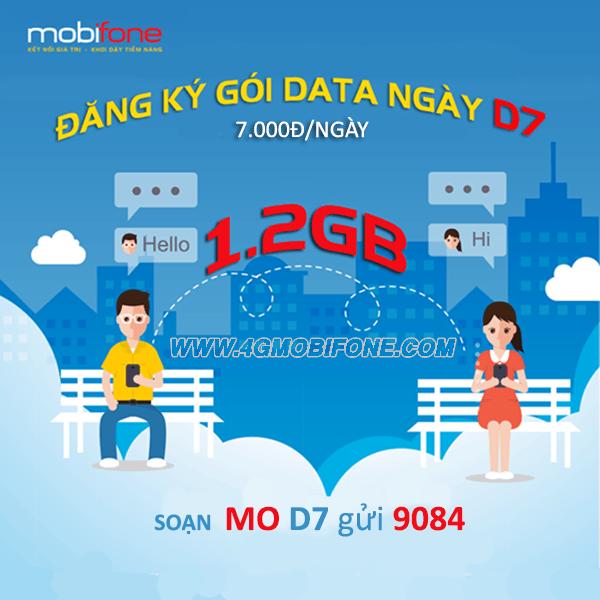 Đăng ký gói cước D7 Mobifone thỏa sức truy cập mạng trong ngày