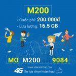 Đăng ký 3G gói M200 Mobifone nhận ngay 16,5GB Data
