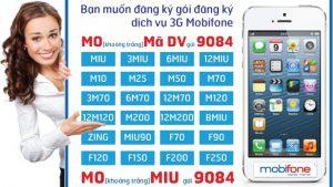 Các gói cước 3G Mobifone 1 ngày