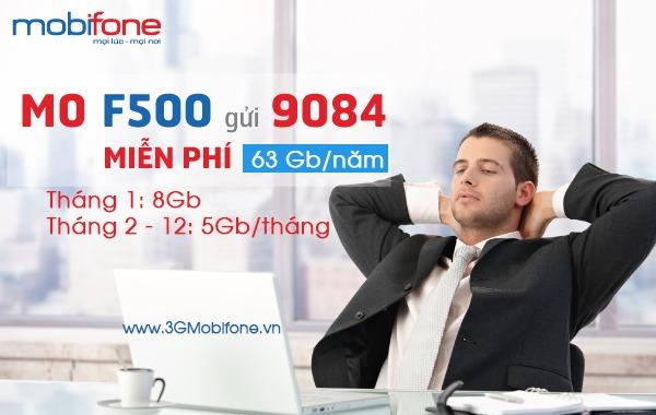 Đăng ký gói F500 Mobifone miễn phí 1 năm lên mạng
