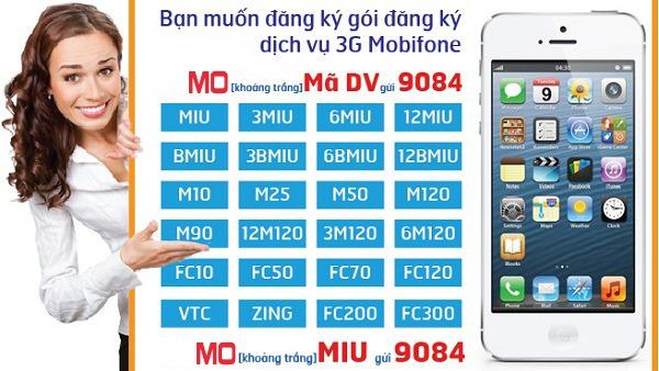 Hướng dẫn cách đăng ký 3G Mobifone mới nhất 2017