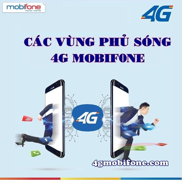 Các vùng phủ sóng 4G Mobifone mới cập nhật 2017