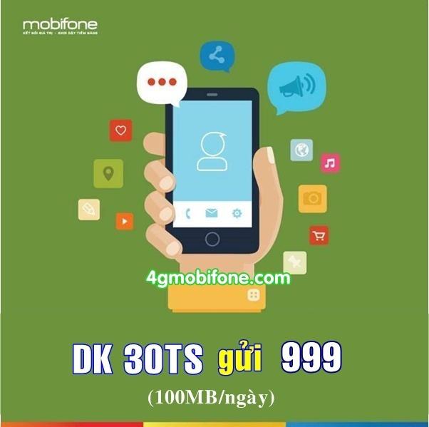 Đăng ký gói 30TS Mobifone nhận 100MB data mỗi ngày