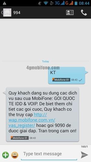 Kiểm tra dịch vụ Mobifone đang dùng nhanh chóng
