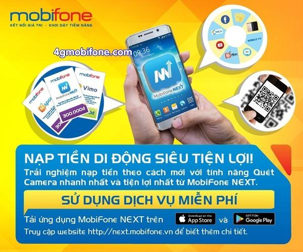 Cách nạp tiền qua ứng dụng Mobifone Next đơn giản