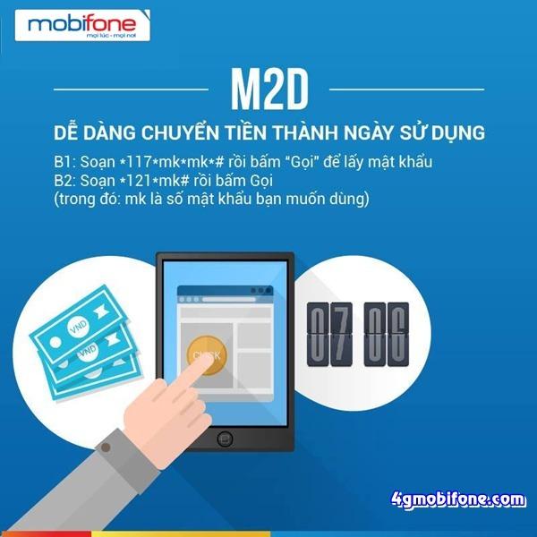 Cách Chuyển tiền thành ngày sử dụng M2D Mobifone