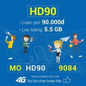 Cách đăng ký gói HD90 Mobifone
