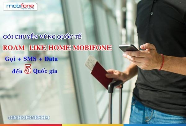 Đăng ký gói Gói chuyển vùng Quốc tế Roam Like Home Mobifone