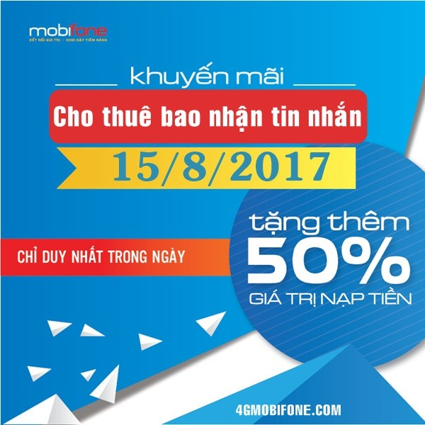 Thông tin Mobifone khuyến mãi ngày 15/8/2017