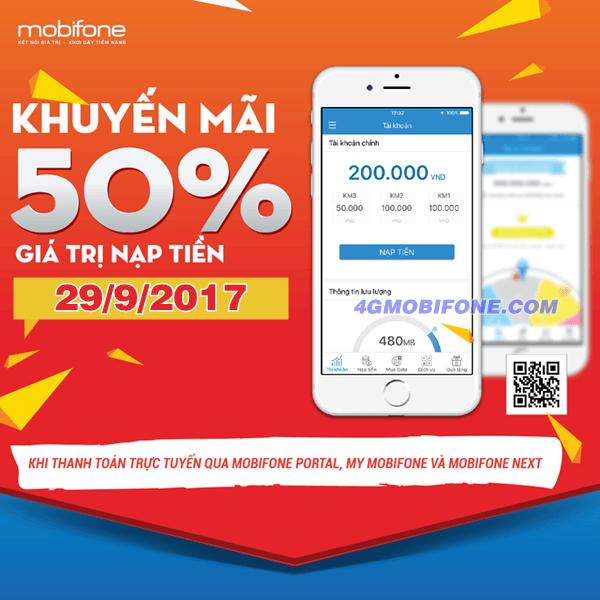 Chương trình Mobifone khuyến mãi ngày 29/9/2017