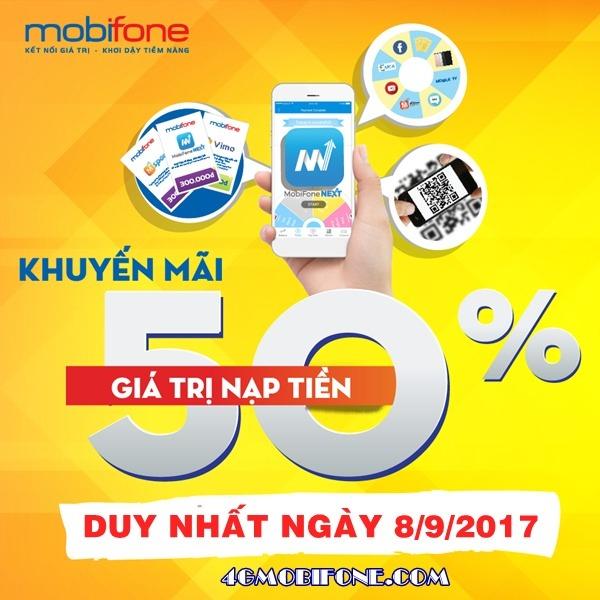Chương trình Mobifone khuyến mãi ngày 8/9/2017