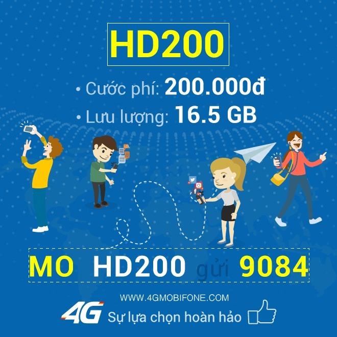 Cách đăng ký gói HD200 Mobifone