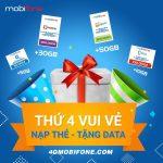 Chương trình Mobifone khuyến mãi nạp thẻ nhận Data