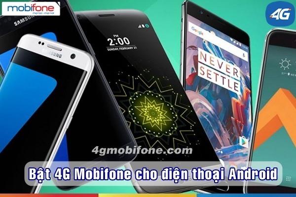 Cách Bật tắt 4G Mobifone cho Android