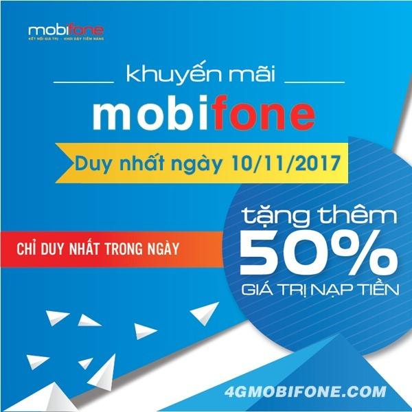 Chương trình Mobifone khuyến mãi ngày 10/11