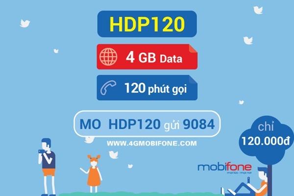Cách đăng ký gói HDP120 Mobifone