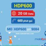 Đăng ký gói HDP600 Mobifone
