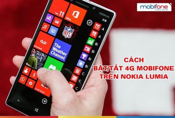 Hướng dẫn cách Bật tắt 4G Mobifone trên Nokia Lumia