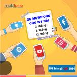Đăng ký gói cước Gói cước 3G Mobifone chu kỳ dài