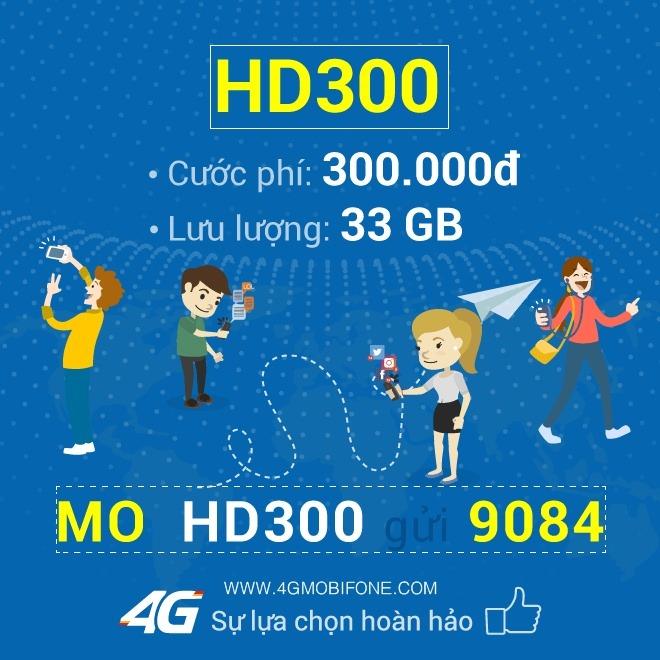 Đăng ký gói HD300 Mobifone