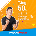 Mobifone khuyến mãi 23/1/2018