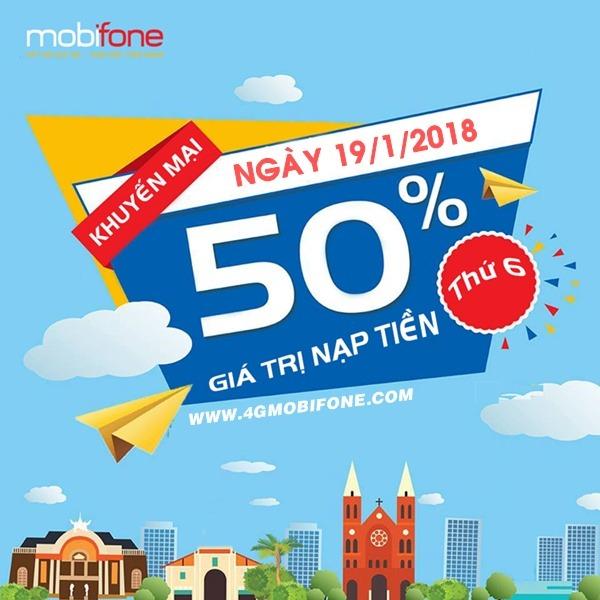 Chương trình Mobifone khuyến mãi ngày 19/1/2018