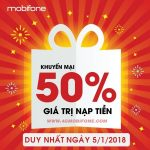 Chương trình khuyến mãi Mobifone ngày 5/1/2018