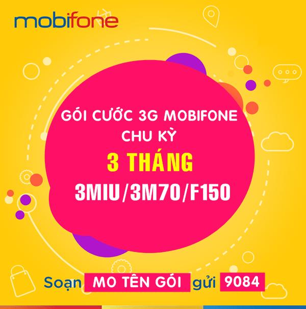 Cách Gói cước 3G Mobifone chu kỳ 3 tháng