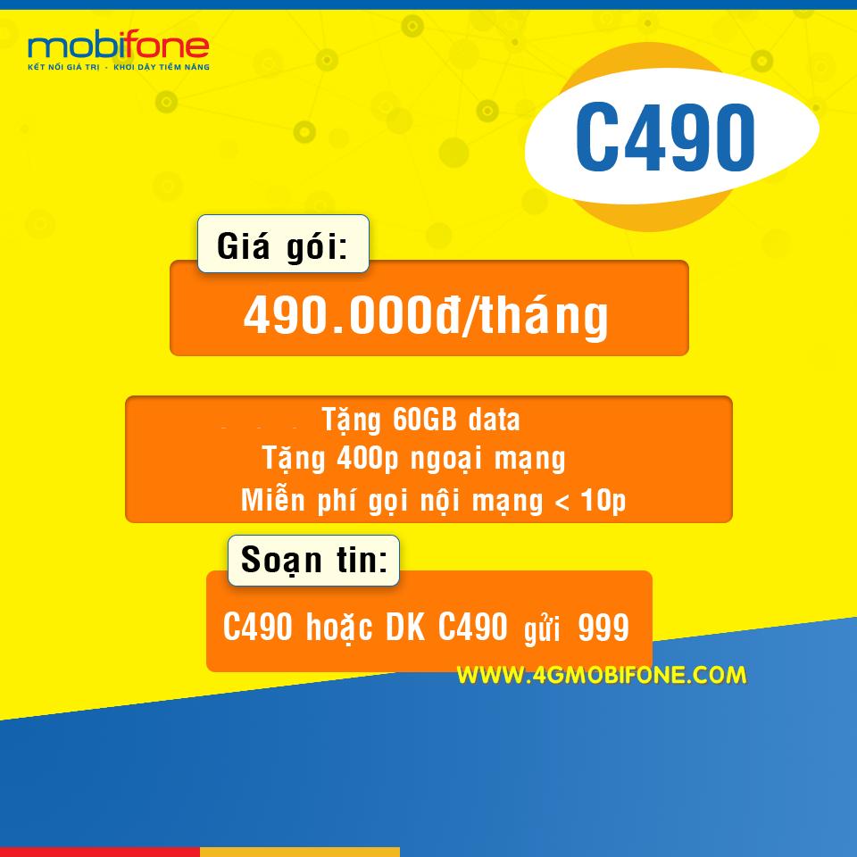Cách đăng ký gói C490 Mobifone