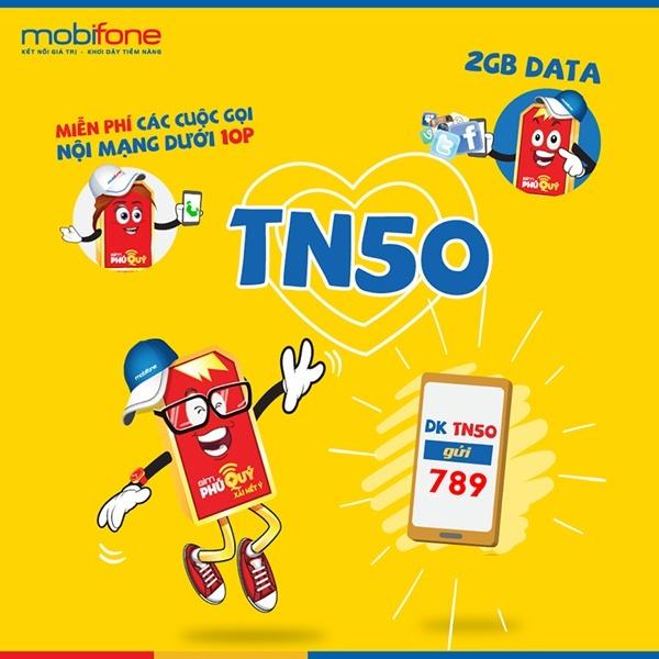 Cách đăng ký gói cước TN50 Mobifone