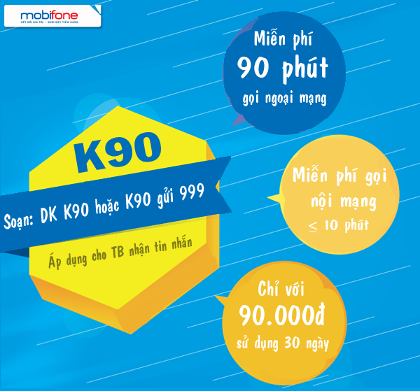 Đăng ký gói K90 Mobifone