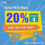 Chương trình Mobifone khuyến mãi ngày 4/4/2018