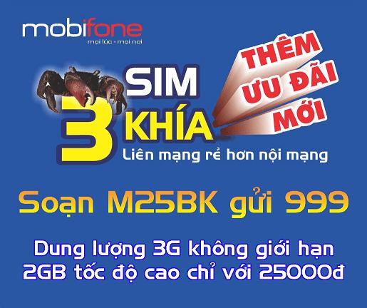 Đăng ký gói M25K Mobifone
