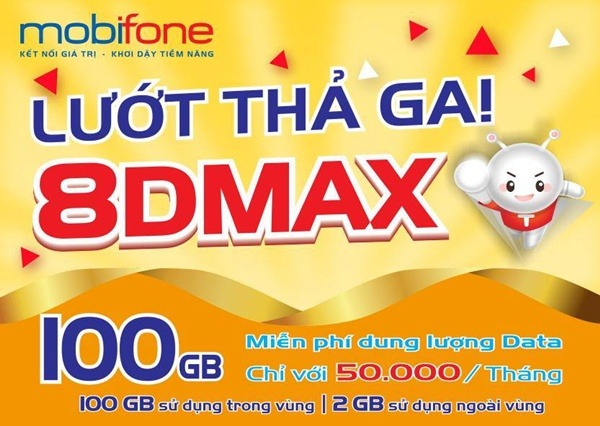 Đăng ký gói Gói 8DMAX Mobifone