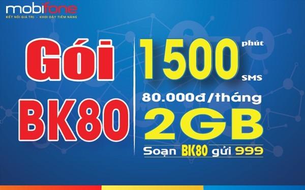 Đăng ký gói BK80 Mobifone