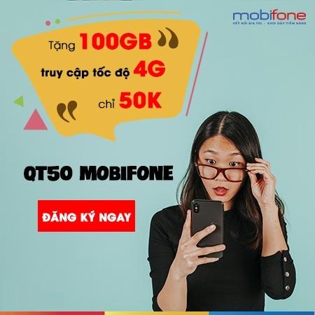 Đăng ký gói QT50 Mobifone