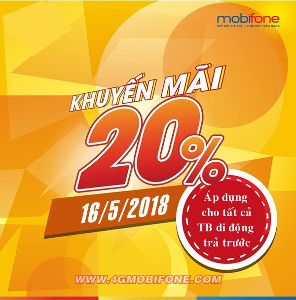 Chương trình Mobifone khuyến mãi ngày 16/5/2018