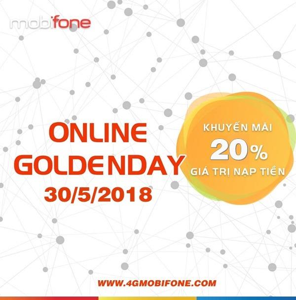 Chương trình Mobifone khuyến mãi nạp tiền trực tuyến ngày 30/5/2018