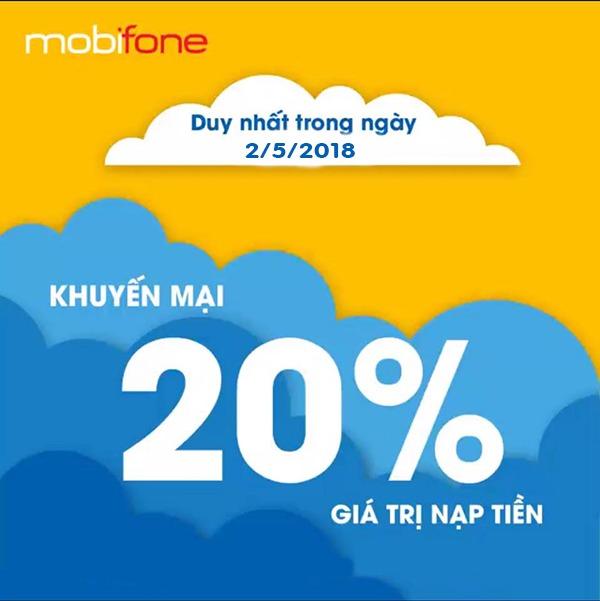 Chương trình Khuyến mãi Mobifone ngày 2/5/2018