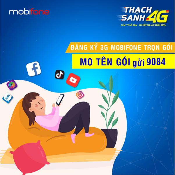 Gói cước 3G Mobifone trọn gói không giới hạn