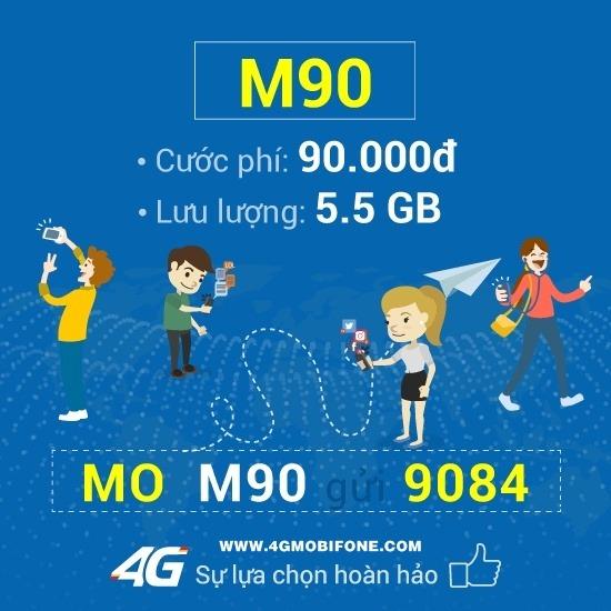 Cách đăng ký gói cước M90 Mobifone