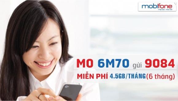 Đăng ký gói cước 6M70 Mobifone