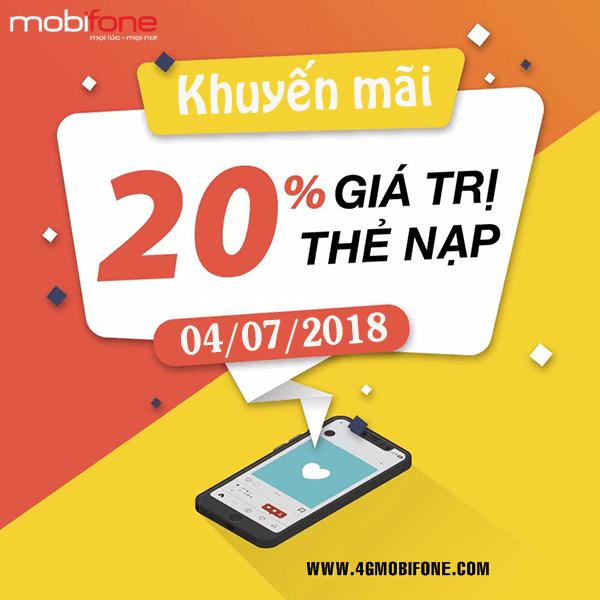 Chương trình Mobifone khuyến mãi 4/7/2018