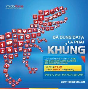 Mobifone tăng gấp 6 Data gói cước 3G/4G với giá cước không đổi