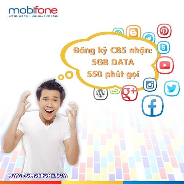 Cách đăng ký gói cước CB5 Mobifone