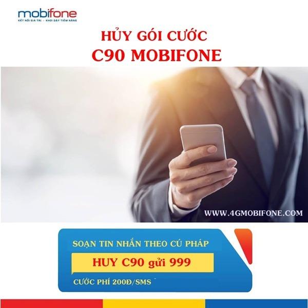 Cách hủy gói cước C90 Mobifone