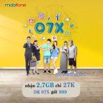 Cách đăng ký gói cước 07X Mobifone