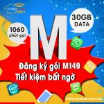 Cách đăng ký gói M149 Mobifone nhận 30GB, miễn phí gọi thoại thả ga