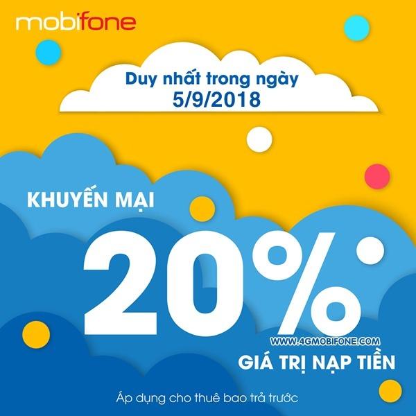 Chương trình Mobifone khuyến mãi 5/9/2018