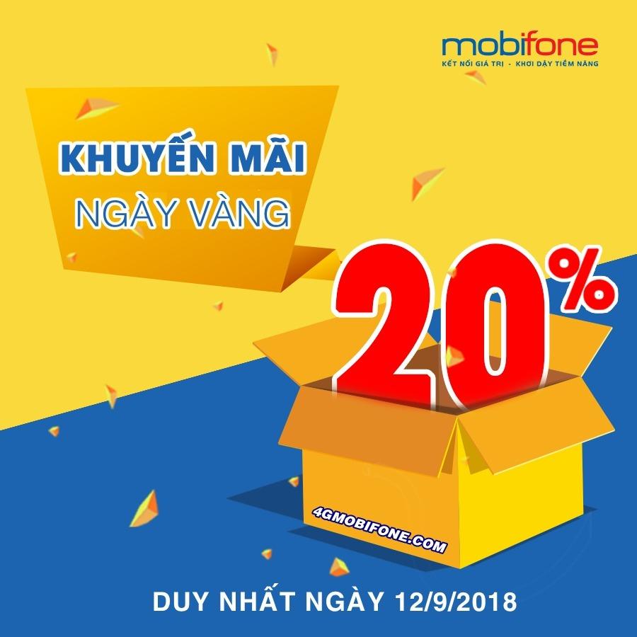 Chương trình Khuyến mãi Mobifone ngày 12/9/2018